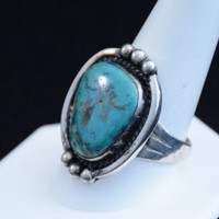 Sterling Silver Mexican / Western Styled Turquoise Ring     J137