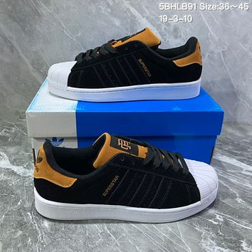 online store 39869 07c3f DCCK2 A1048 Adidas Superstar Cork Suede Fashion Skate Shoes Blac