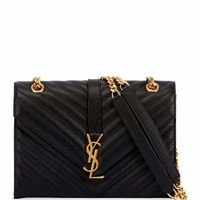 Saint Laurent Monogram Kate Small Quilted Leather Chain Shoulder Bag