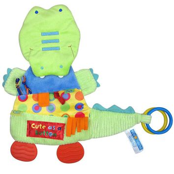 32cm*32cm Baby Toys Crocodile Teether Scarf Handkerchief appease Towel Rattles Doll Gift For Soothe Towel Educational Plush Toys
