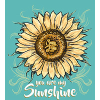 Sassy Frass You are My Sunshine Sunflower Comfort Colors Long Sleeves Bright Girlie T Shirt
