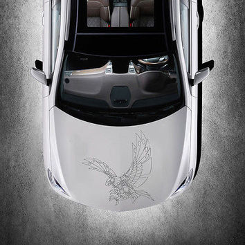 ANIMAL EAGLE BIRD WINGS DESIGN HOOD CAR VINYL STICKER ART DECALS MURALS SV1492
