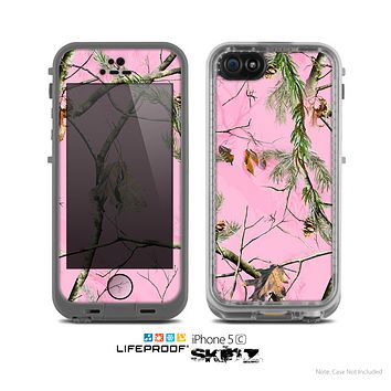The Pink Real Camouflage Skin for the Apple iPhone 5c LifeProof Case