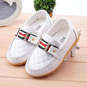 Fashion Online New Boy Girl Children's Slip-on Loafers Oxford Flat Shoes Kids Fashion Sneaker Baby Mocassins Running Shoes (toddler/little Kid)