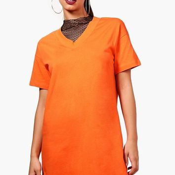 Ashley Mesh T-Shirt Dress | Boohoo