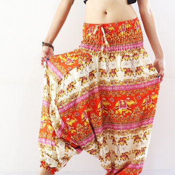 lounge pants harem pants boho clothing gypsy pants stretchy pants fits all