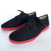 BLACK LOW TOP / RED SOLE | $30 - Status Foe