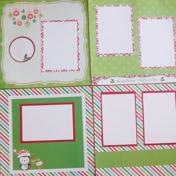 20 Premade Christmas Scrapbook Pages 12x12 by StrictlyCute on Etsy