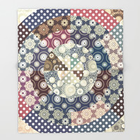 Playing with circles II Throw Blanket by Octavia Soldani | Society6