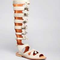 Rebecca Minkoff Flat Gladiator Sandals - Summer Tall Fringe