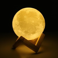 Rechargeable 3D Printing Moon Lamp Night Light