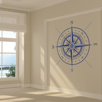 Compass Rose Huge Decorative Removable Vinyl Wall Art