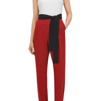 Colorblock Crepe Jumpsuit | Dasela