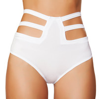 White High Rise Cut Out Bottoms