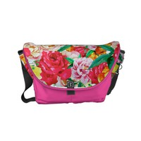 Colorful flower pattern small messenger bag