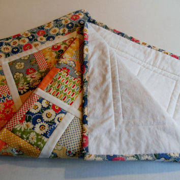 Patchwork Baby Quilt Table Runner Retro Vintage