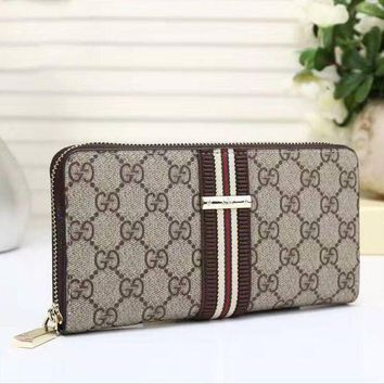 DCCKON GUCCI Zipper Women Leather Purse Wallet Satchel Bag H-LLBPFSH Tagre-