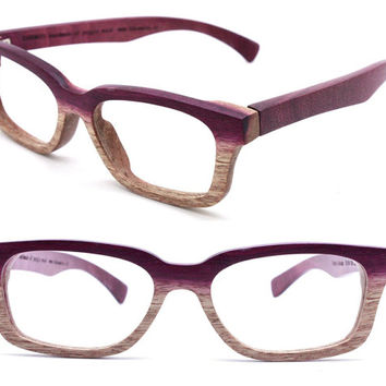 Paris Autumn handmade vintage purple wood wooden sunglasses glasses eyeglasses 201210061735 ONLY ONE
