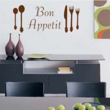 Bon Appetit Decal Sticker Eat Kitchen Dining Room Restaurant Wall Graphic Art
