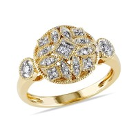 Diamond Gold Fashion Ring 1/7ctw - Size 5