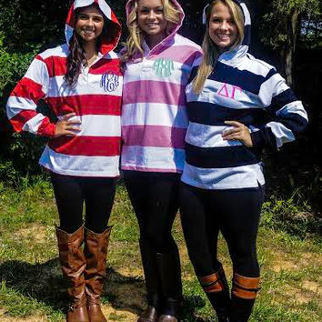 CUSTOM Rugby Jersey- Feature your own monogram or Greek (Sorority or Fraternity) organization!