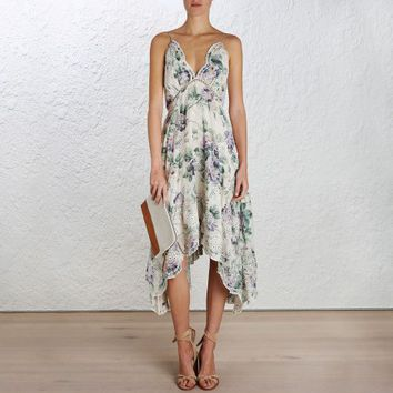Lucia Embroidered Floral Dress - The Latest