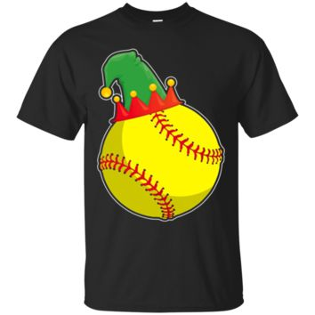 Elf Softball T-Shirt Hoodie Funny Christmas Field Softball Game