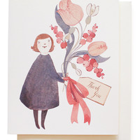 dress & tulips thank you card