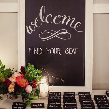 Chalkboard place cards 72 pack