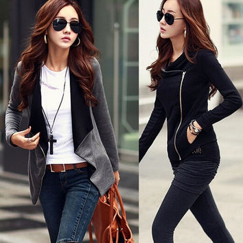 2015 New Hot Sale Fashion Winter Women Jacket Long Sleeve Parka Wadded Plus Size Coat = 1930457924