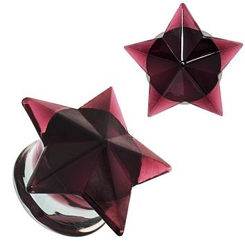 Purple Faceted Star Glass WildKlass Plug