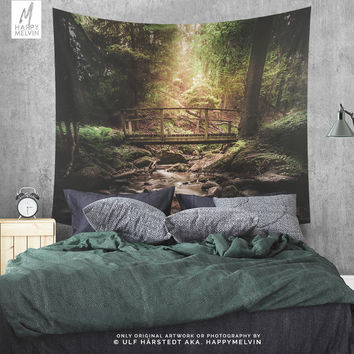 Magical Forest River Wall Tapestry | Nature Tapestry | Forest Wall Tapestries | Nature Wall Hangings | Boho Wall Decor | Wanderlust Photo