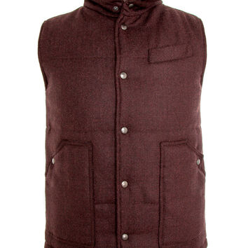Eidos Napoli Burgundy Quilted Down Vest