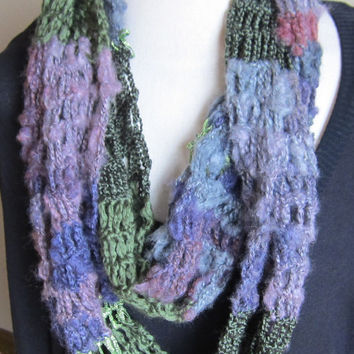 Crochet Cowl,Infinity Scarf,Hooded Scarf made with Red Heart Boutique Magical Yarn in Wizard Beautiful Colors