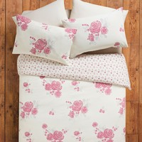 Reversible Rose Country Floral Print Duvet Set - Matalan