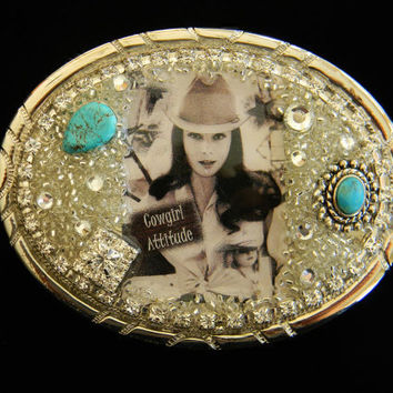 Cowgirl Glam Womens Belt Buckle