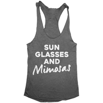sun glasses and mimosas racerback tank top yoga gym fitness fashion tumblr clothes work out top gift for mom daughter wife girlfriend