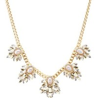 Gold Rhinestone Choker Necklace by Charlotte Russe