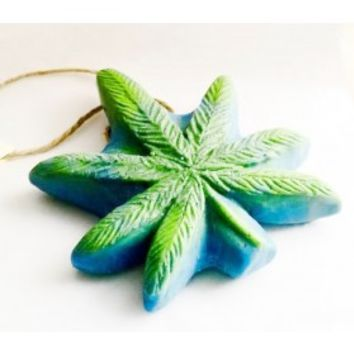 Lucky Charms Dope on a Rope - Tea Tree & Grapefruit Pot Leaf shaped Soap on a Rope