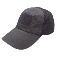 Condor Mesh Tactical Cap (Black, One Size Fits All)