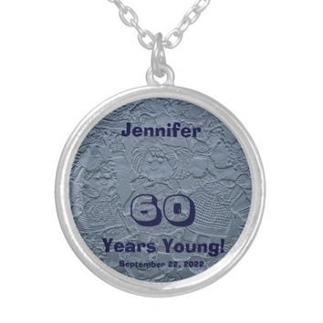60th Birthday 60 Years Blue Young Dolls Necklace