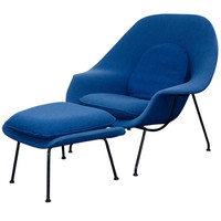 Vintage Womb Chair and Ottoman, Eero Saarinen for Knoll