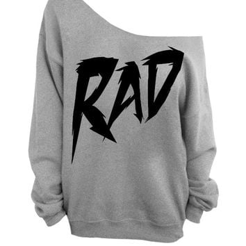 Rad - Gray Slouchy Sweater - CREW