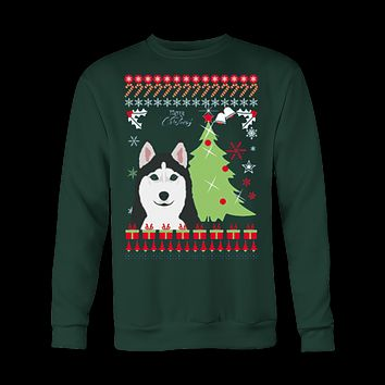 Christmas Ugly Sweatshirt HUSKY UGLY