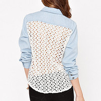 Kirra Lace Back Denim Shirt at PacSun.com