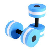 1 Pair Water Aerobics Dumbbell Medium Aquatic Barbell Aqua Fitness Pool Exercise New Sport Accessories Blue Color