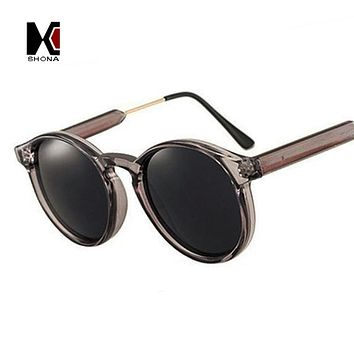 SHAUNA Vintage Women Round Sunglasses Brand Designer Men Keyhole Thick Frame Sun Glasses Female Sunglass UV400 Oculos de sol