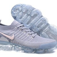 DCCK2 N337 Nike Air Vapormax Flyknit 2 Casual Running Shoes Grey White Pink