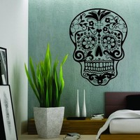 Extra Large Sugarskull Wall Vinyl Decal Sticker Art Graphic Sticker Sugar Skull