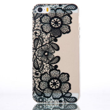 New Womens Lace Style iPhone 5s 6 6s Plus Case Ultrathin Cover Free Gift Box 36